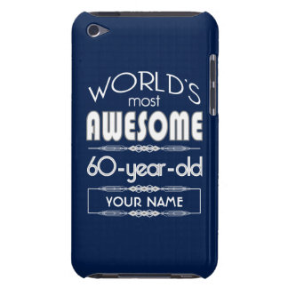 60th Birthday Worlds Best Fabulous Dark Blue Barely There iPod Cases