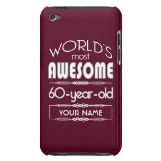 60th Birthday Worlds Best Fabulous Dark Red Barely There iPod Cover