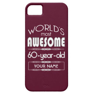 60th Birthday Worlds Best Fabulous Dark Red Case For iPhone 5/5S
