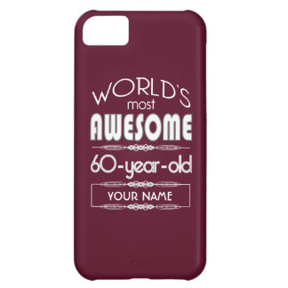 60th Birthday Worlds Best Fabulous Dark Red Case For iPhone 5C
