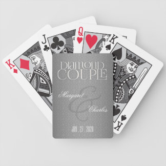60th Diamond Anniversary Damask Personalized Bicycle Playing Cards