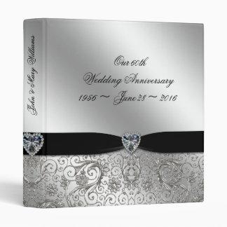 "60th Diamond Wedding Anniversary 1"" Binder"