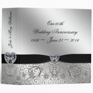 "60th Diamond Wedding Anniversary 2"" Binder"