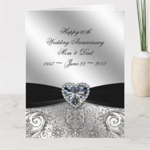 60th Diamond Wedding Anniversary 8.5 x 11 Card