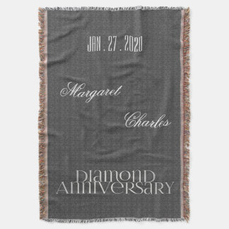 60th Diamond Wedding Anniversary | Custom Throw