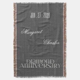 60th Diamond Wedding Anniversary | Custom Throw