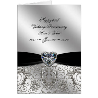 60th Diamond Wedding Anniversary Greeting Card