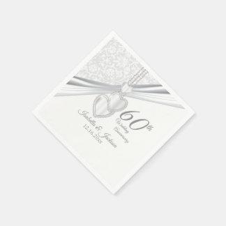 60th Diamond Wedding Anniversary Paper Napkin