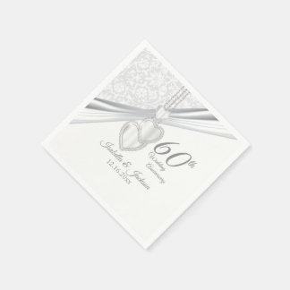 60th Diamond Wedding Anniversary Paper Napkins
