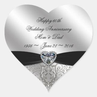 60th Diamond Wedding Anniversary Sticker