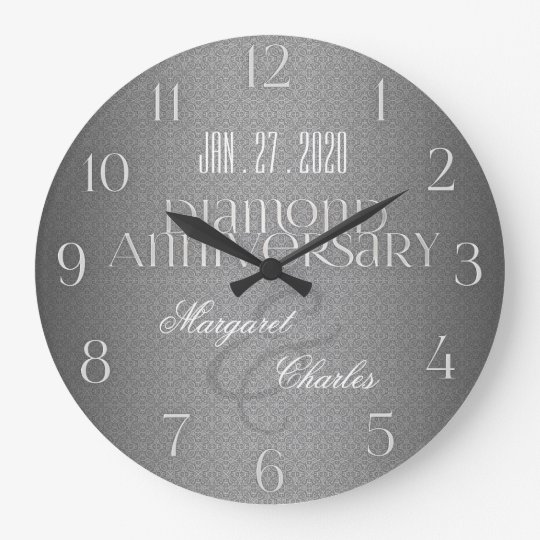 60th Diamond Wedding Annivsersary | Custom Clock