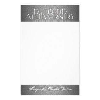 60th Diamond Wedding Annivsersary Custom Stationery Paper