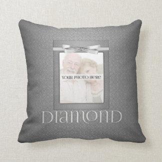 60th Diamond Wedding Annivsersary  Photo Throw Pillow