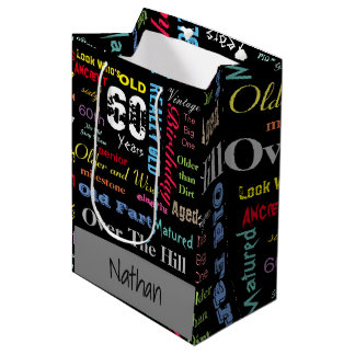 60th Happy Birthday | Milestone Medium Gift Bag
