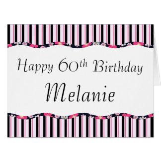 60th or Any Age Birthday-BIG Card