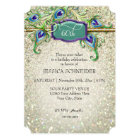 60th Sixtieth Birthday Party Peacock Feather Card