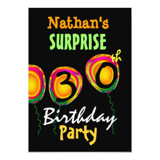 60th SURPRISE Birthday Party Balloons Invitation