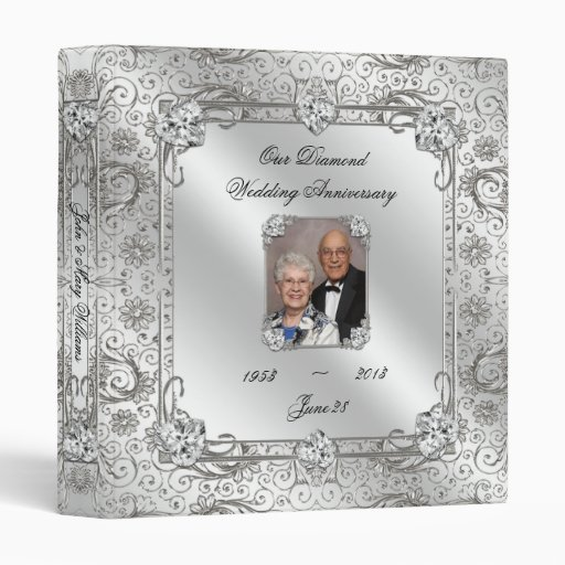 "60th Wedding Anniversary 1"" Photo Binder"