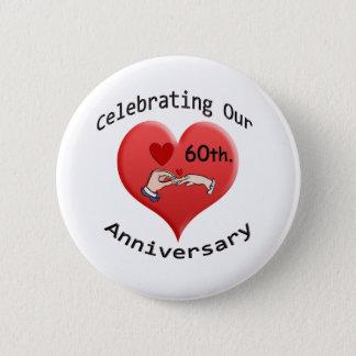 60th. Wedding Anniversary 2 Inch Round Button