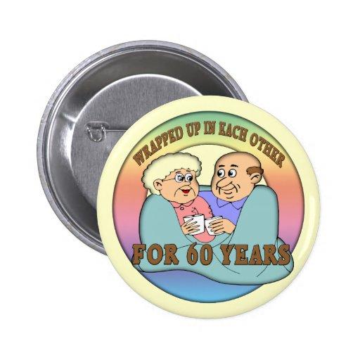60th Wedding Anniversary Button