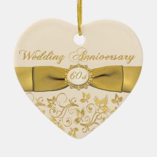 60th Wedding Anniversary Christmas Ornament