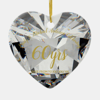 60th Wedding Anniversary Diamond PHOTO Gift Ceramic Ornament