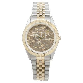 60th Wedding Anniversary Diamond Wedding Gold Chic Watch