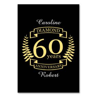 60th Wedding ANNIVERSARY diamond yellow Card