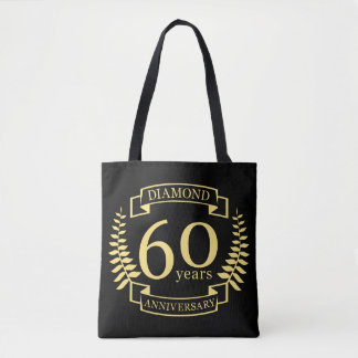 60th Wedding ANNIVERSARY diamond yellow Tote Bag