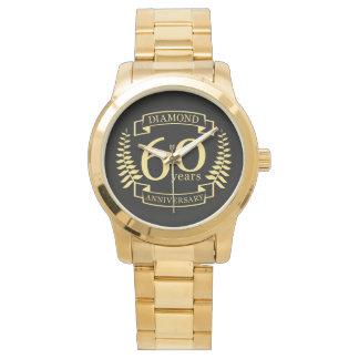 60th Wedding ANNIVERSARY diamond yellow Watch