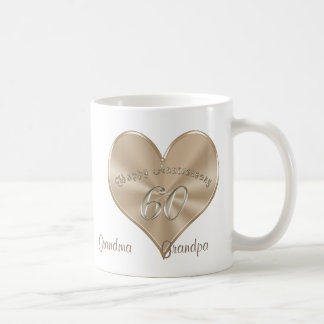 60th Wedding Anniversary Gifts for Grandparents Coffee Mug