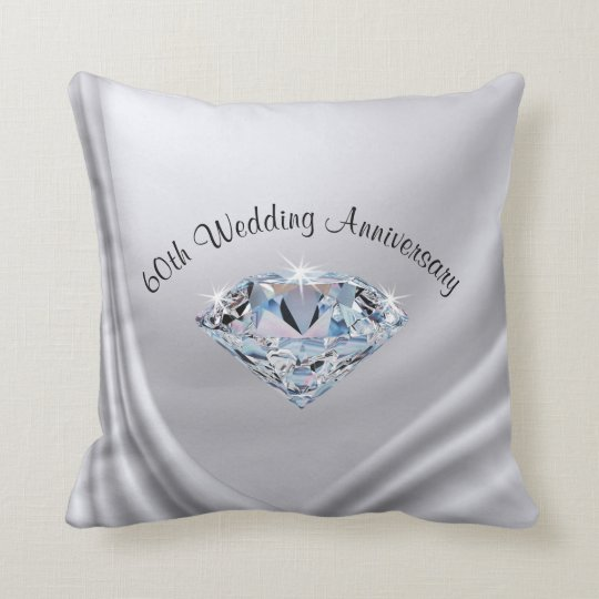 Gifts For 60th Wedding Anniversary: 60th Wedding Anniversary Gifts Traditional, Pillow