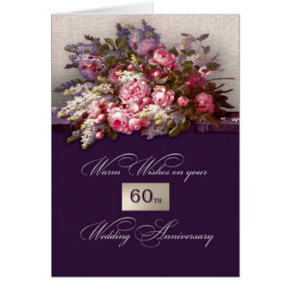 60th Wedding Anniversary Greeting Cards