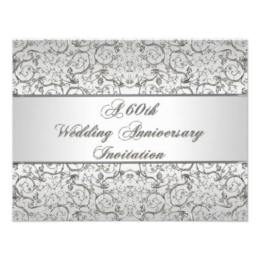 60th wedding anniversary invitation card zazzle for Free printable 60th wedding anniversary invitations