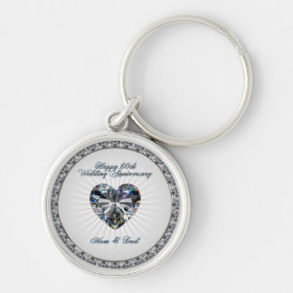60th Wedding Anniversary Key Chain