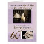 60th Wedding Anniversary, Mom & Dad Cards