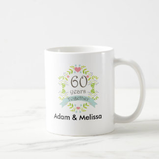 60th Wedding Anniversary Personalized Mug