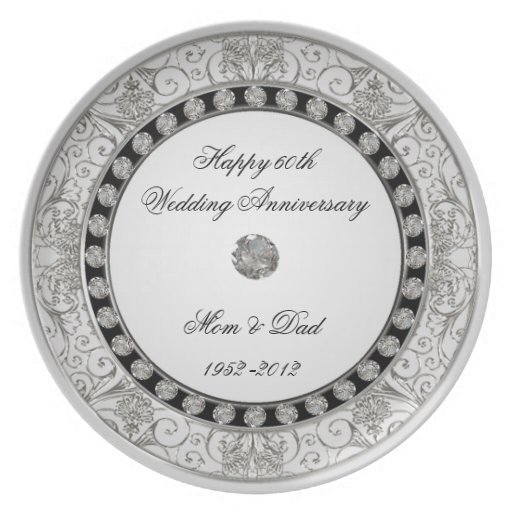 Wedding Gifts For 60th Anniversary : 60th Wedding Anniversary Plate Zazzle