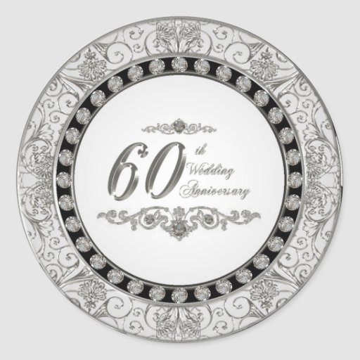 60th Wedding Anniversary Stickers