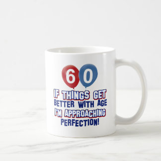 60th year old birthday gift mugs