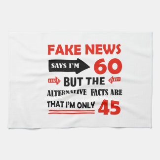60th year old birthday gifts kitchen towel