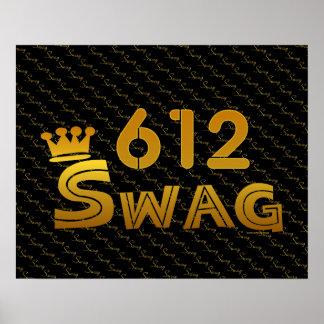 612 Area Code Swag Print