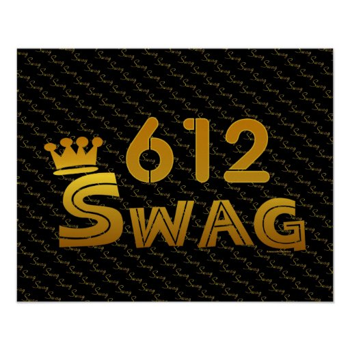 612 Area Code Swag Print
