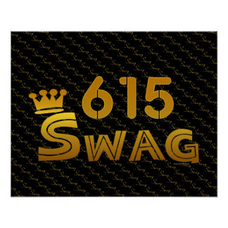 615 Area Code Swag Poster