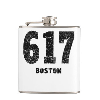 617 Boston Distressed Hip Flask