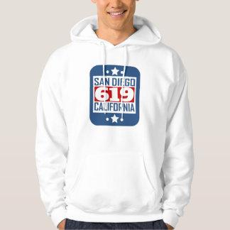 619 San Diego CA Area Code Hoodie
