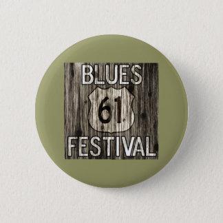 61 Blues Festival 2 Inch Round Button