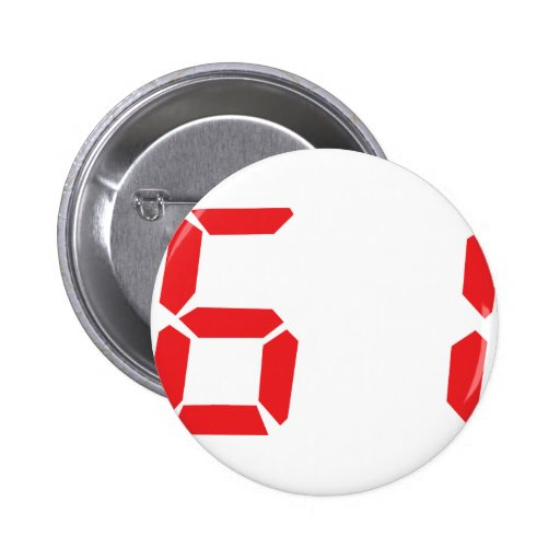 61 sixty-one red alarm clock digital number button