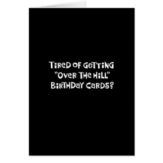 """61st Birthday Funny """"Over the Hill"""" Card"""