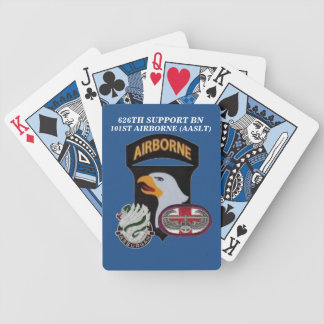 626TH SUPPORT BN 101ST AIRBORNE PLAYING CARDS